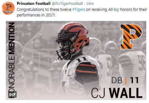 CJ Wall - Princeton Football